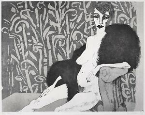 Jastram, Inge (1934 Naumburg, lebt in Kneese bei Marlow) Elke im Pelz sign.