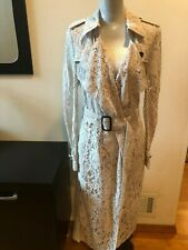 NEW Burberry  Gracehill Lace Trench Coat Lace Trench Coat Pale Gray Size 10