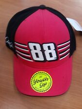 Dale Earnhardt Jr Junior #88 NASCAR Ball Cap Hat NEW Red & Black Youth