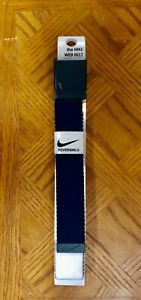 Nike Men'sSingle Web Reversible Golf Belt - Navy/White -W/Built In Bottle Opener