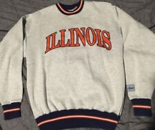 Vtg 90s Illinois Chicago Bears Sweatshirt XL The Game Polo Sport Tommy NBA NFL
