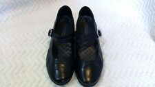 Aravon WST06BK Black Leather Tonya Mary Janes Women's Size 8.5 D - EXC COND