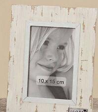 Marco de fotos, Portaretratos para 10 x 15cm Shabby Estilo look USADO BLANCO