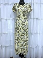 Size 6 - TOMMY BAHAMA Womans Yellow Cross Front Floral Silk Maxi Dress