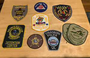 Virginia and South Carolina Police Patches - Lot of 9