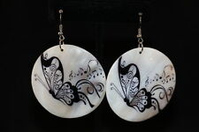Earrings Round Shell