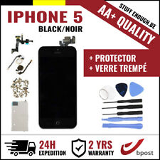 AA+ LCD SCREEN SCHERM ÉCRAN ASSEMBLY BLACK NOIR +TOOL&VERRE TREMPÉ FOR IPHONE 5