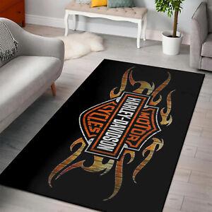 Harley Davidson Rug,Round Rugs, Square Rug, Harley Davidson Gifts,Harley Rug