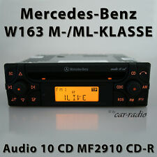 Original Mercedes Audio 10 CD MF2910 CD-R Autoradio M- ML-Klasse W163 Radio RDS