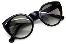 Ojos de Gato Estilo Vintage Gafas Sol Ovaladas Mujer Retro Marco Diseño Redondo