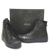 ATELJE71 MAVERICK  Platform Combat Leather Sneaker Boots Black $250 sz US 9 M