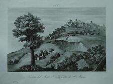 1845 Zuccagni-Orlandini Veduta del Monte e della Città di San Marino