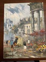 J Burnett Original Oil Painting Paris  On Canvas. 12x16