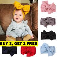 Baby Girl Hair Band Big Bow Headband Turban Knot Hair Accessory Head Wrap S