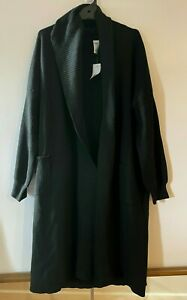 Ladies plus size 20 Black Curve long knitted COATIGAN  2 pockets Anko NEW