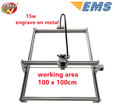 15W CNC Laser Engraver Full Metal Marking Machine Wood Cutter 100x100cm DIY Kit
