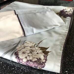 Marks And Spencer Double Duvet Cover 4 Pillowcases 100% Cotton