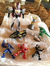 Lot of (8)Power Rangers Action Figures,Motorcycle,Dragon,Mighty Morphin,Monster