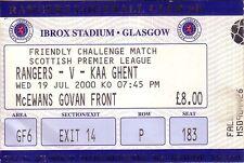 Rangers Football Scottish Fixture Tickets & Stubs