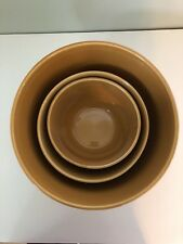"""Real Home """"Let Us Entertain You"""" Nesting Mixing Bowl Set Mustard Yellow Gold"""