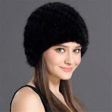 Women Russian Cossack Real Mink Fur Hat Headband Winter Earwarmer Hat Ski