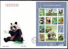 2000-3 China Wild Animals Panda Monkey Crane Dolphin Tiger Stamps Sheetlet FDC-B