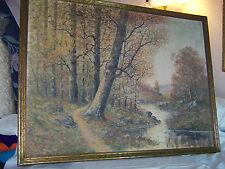 """RARE- *Raphael Senseman* Listed Artist Original Oil On Canvas """"Large"""" Painting"""