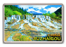 JIUZHAIGOU RIVER CHINA FRIDGE MAGNET SOUVENIR NEW IMÁN NEVERA