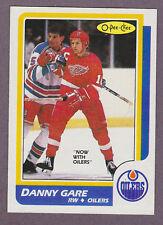 1986-87 OPC Hockey Danny Gare #69 Edmonton Oilers Detroit Red Wings NM/MT