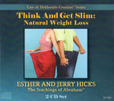 Abraham-Hicks Esther 2 CD - Think and Get Slim: Natural Weight Loss Diet - NEW