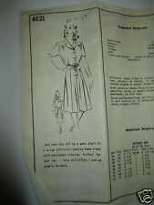 Vintage Mail Order Aldens Dress Pattern #4621 Bust 34