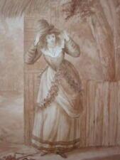 Portrait w / col 17thc LADY Irene Hobart eng 1888