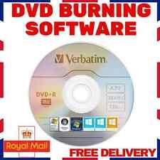 DVD CD COPY BURNING SOFTWARE- BURNER PROGRAM - WINDOWS (XP,VISTA,7,8,8.1,10)