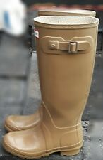 Womens Hunter Classic Tall Rain Boots Galosh High Gloss TAN Size 4/5 EUR 35/36