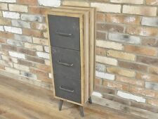 INDUSTRIAL COUNTRY RUSTIC WOOD METAL SLIM TALL BOY CHEST DRAWERS (DX4821)