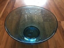 Splendido Vintage controllata Bubble blu di vetro ciotola frutta-Kosta Boda?