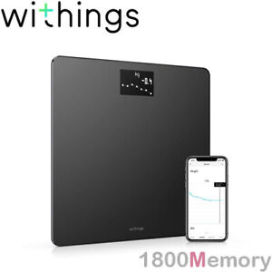 GENUINE Withings Nokia Body Weight & BMI Wi-Fi Smart Scale Up to 8 Users Black