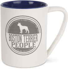 Boston Terrier People Coffee Mug 18 oz Cup Ceramic New Dog Friends Forever