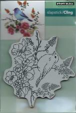 """""""Flower Perch"""" Slapstick/Cling Stamp by Penny Black"""