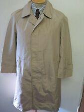 "Genuine Vintage Aquascutum Beige Silk Raincoat Coat Mac Size 36"" R Euro 46 R"