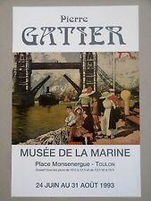PIERRE GATIER Affiche TOWER BRIDGE LONDON Belle époque Toulon Joigny Parmain