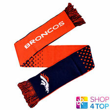 DENVER BRONCOS OFFICIAL AMERICAN FOOTBALL CLUB NFL TEAM KNIT SCARF ACRYLIC NEW