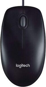 Logitech USB Kabel Maus kabelgebunden für PC Notebook Laptop 1000 DPI 3 Tasten