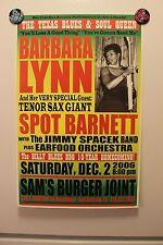 BARBARA LYNN + SPOT BARNETT San Antonio TX (2006) Concert Poster BLUES guitar
