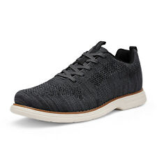 Mens Fashion Sneakers Lace up Casual Shoes Knit Athletic Shoes Walking Shoes