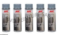 5 Bombes anti-gravillon gris, auto, carrosserie, blackson, spray APP BVDPEINTURE