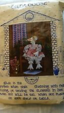 """Vintage """"Gilda Goose"""" Wooden Body w/ Fabric Legs & Arms + Mini Quilt Sewing Kit"""