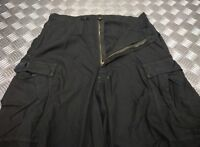 Genuine Military Issue Lightweight Trousers Snow Camouflage Over Dyed Black