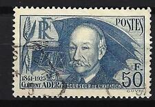 France 1938 Clément Ader Yvert n° 398 oblitéré 1er choix (2)