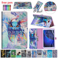 For Samsung Galaxy Tab A 10.1 in T580 T515 Magnetic PU Leather Wallet Case Cover